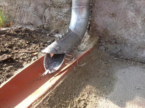 tuyau de descente décoratif en zinc