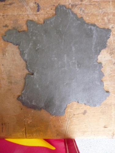 carte de France taillé dans l'ardoise